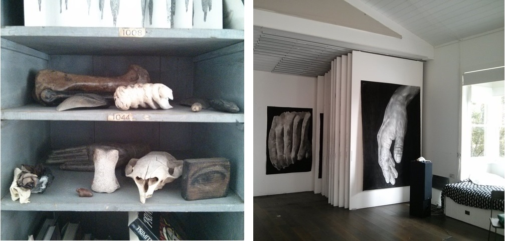 Views of the studio of Sydney-based artist Melissa Coote. Photographed by the author.