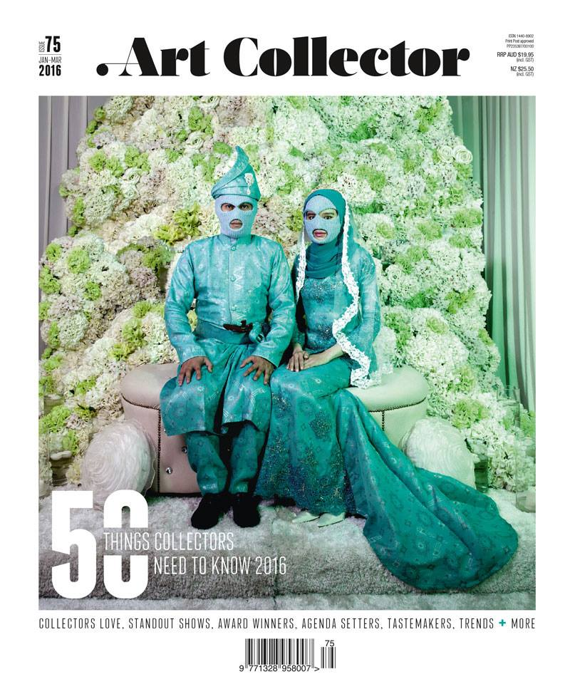 Work by Abdul Abdullah on the cover of Art Collector Issue 75