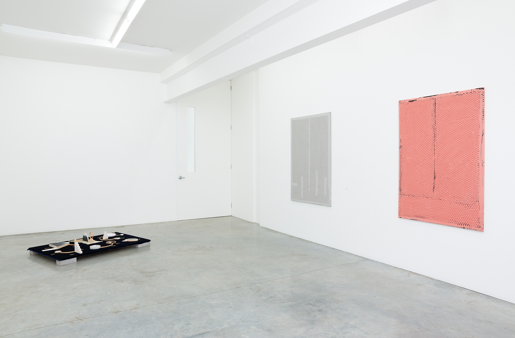 World Material installation view featuring Lisa Sammut (L) & Louise Weaver (R). Image courtesy the artists and Darren Knight Gallery, Sydney. Photography: Simon Hewson